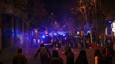 18.12.2019, zamieszki w Barcelonie podczas meczu FC Barcelona-Real Madryt