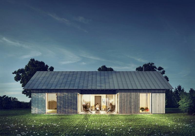 We wsi Całowanie powstają domy, które swoją filozofią odpowiadają skandynawskiej idei hytte.