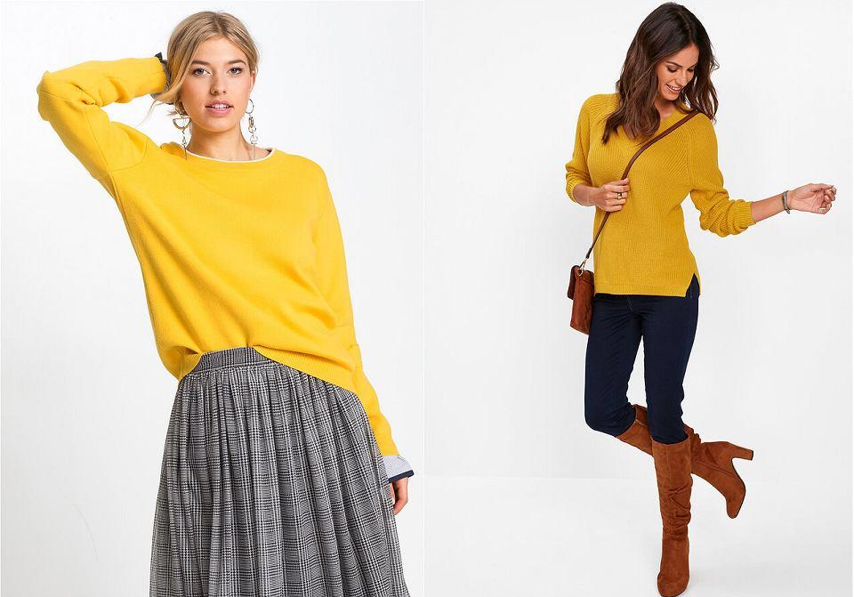 Swetry w kolorze żółtym