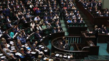7.06.2018, Sejm podczas głosowania.