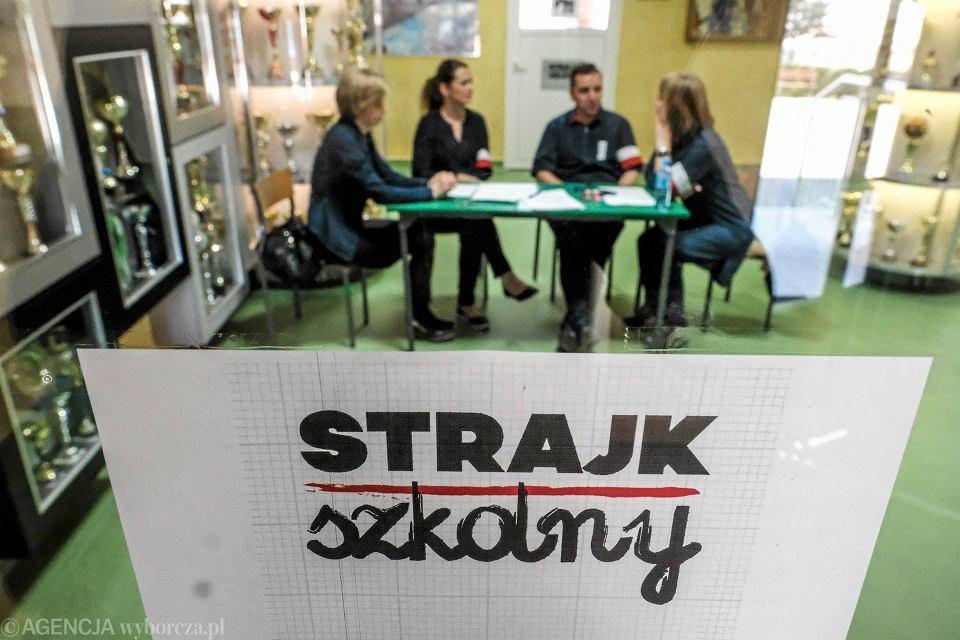 Rzeszów, ogólnopolski strajk nauczycieli, 31 marca 2017 r.