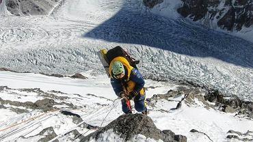Magdalena Gorzkowska podczas wspinaczki na K2.