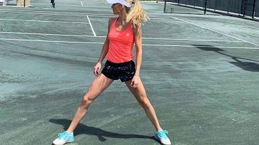 Urszula Radwańska zachwyca figurą w bikini, trenując na Florydzie