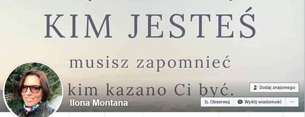 Ilona Felicjańska i jej konto na Faacebooku