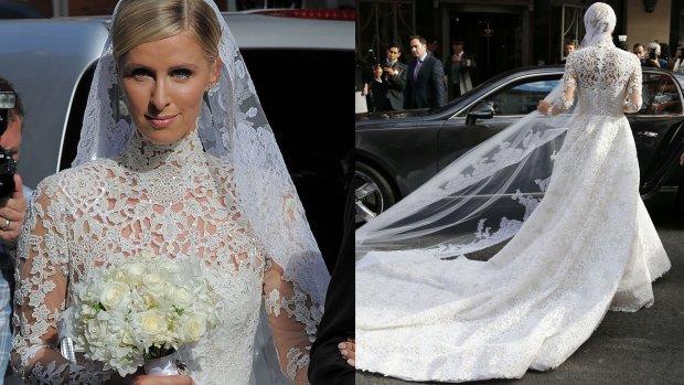 Nicky Hilton, ślub, suknia