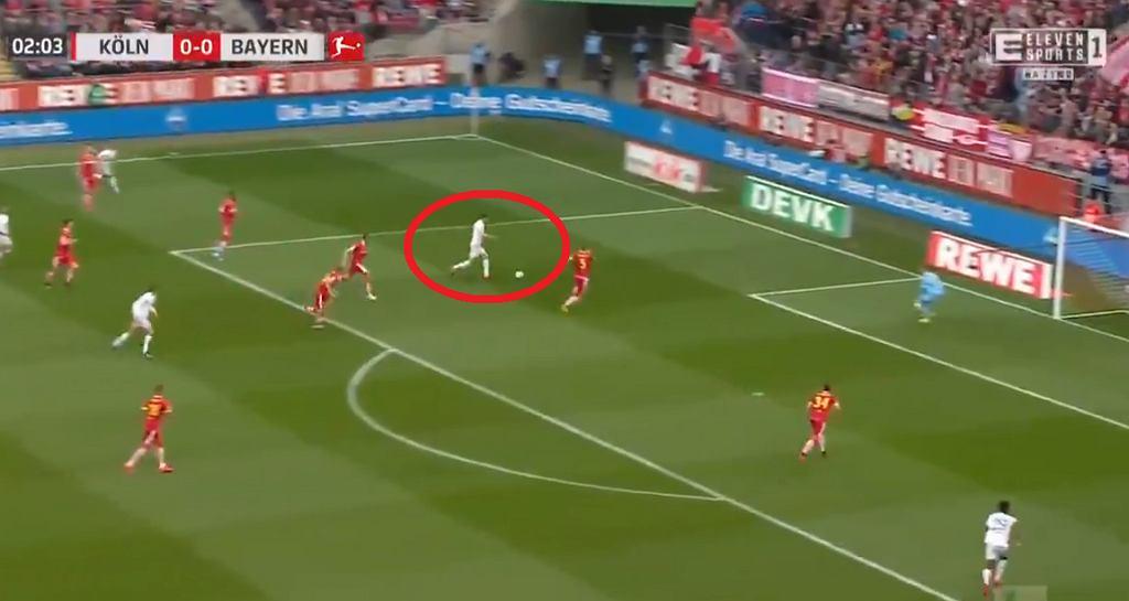 Gol Roberta Lewandowskiego w meczu Koeln - Bayern