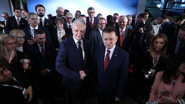 Konwencja zjednoczeniowa: Jarosław Gowin i Mariusz Błaszczak