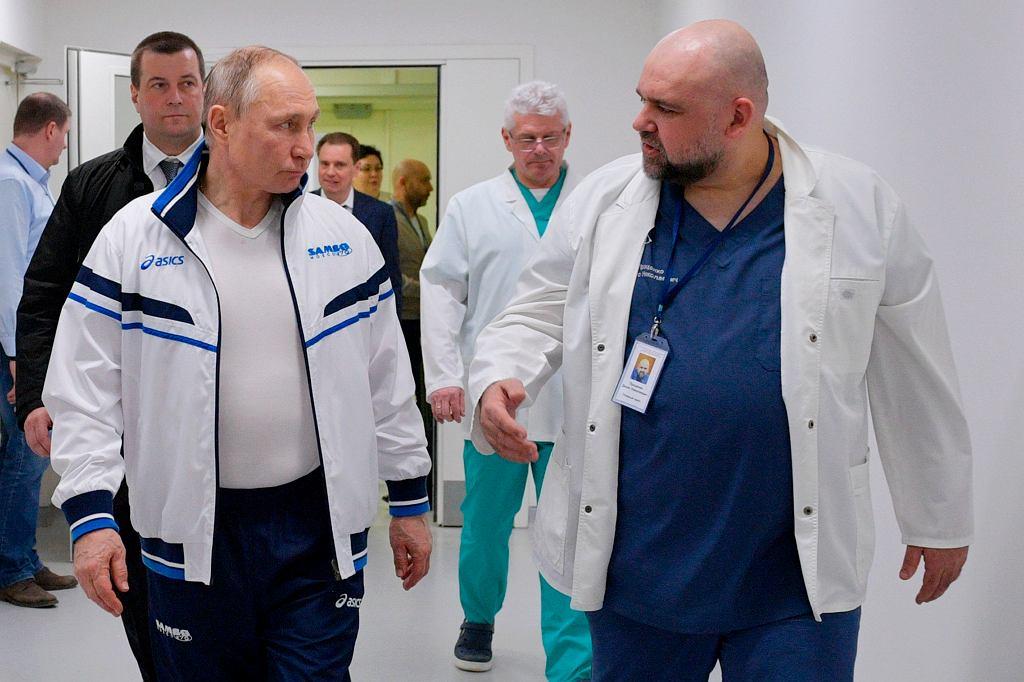 Władimir Putin i Denis Protsenko