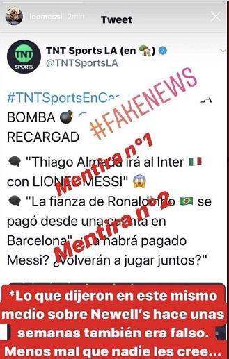 Leo Messi zdementował plotki