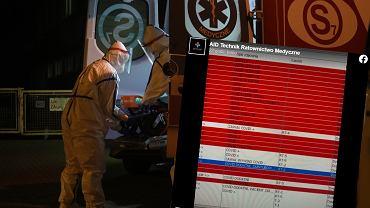 Epidemia koronawirusa - ratownicy pokazali, ile mają zgłoszeń
