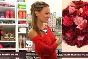 Setki butów, tysiące płyt, żyrandol z kwiatów. Marika pokazała swoje mieszkanie!
