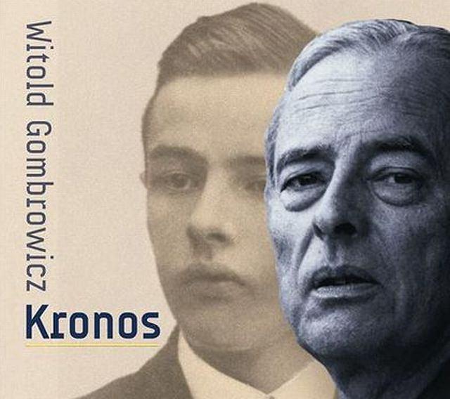 Fragment okładki książki 'Kronos' Witolda Gombrowicza