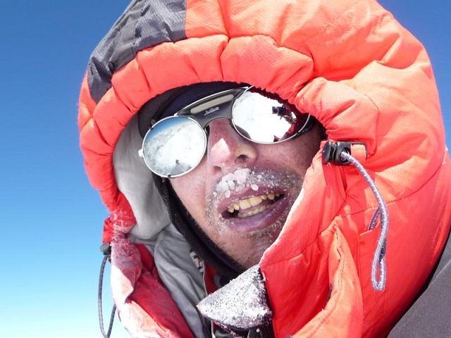 Marcin Kaczkan na szczycie Nanga Parbat
