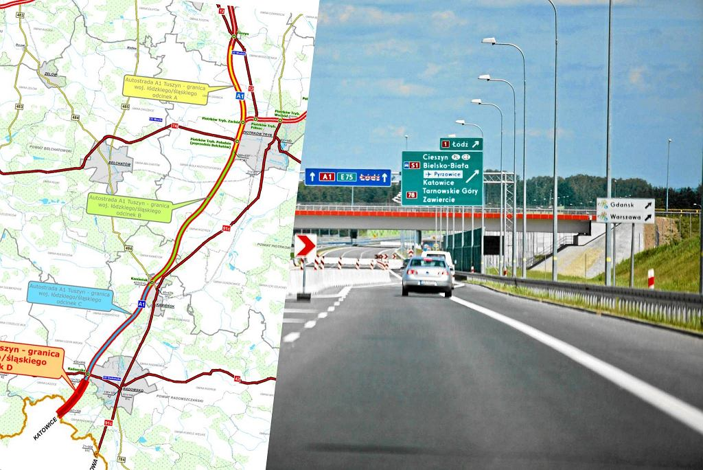 Kolejne odcinki autostrady A1 wkrótce w budowie