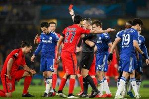Liga Mistrzów. Chelsea - PSG 2:2. Zlatan Ibrahimović z czerwoną kartką