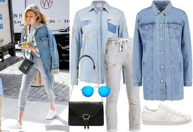 Gigi Hadid - stylizacja ze spodniami dresowymi