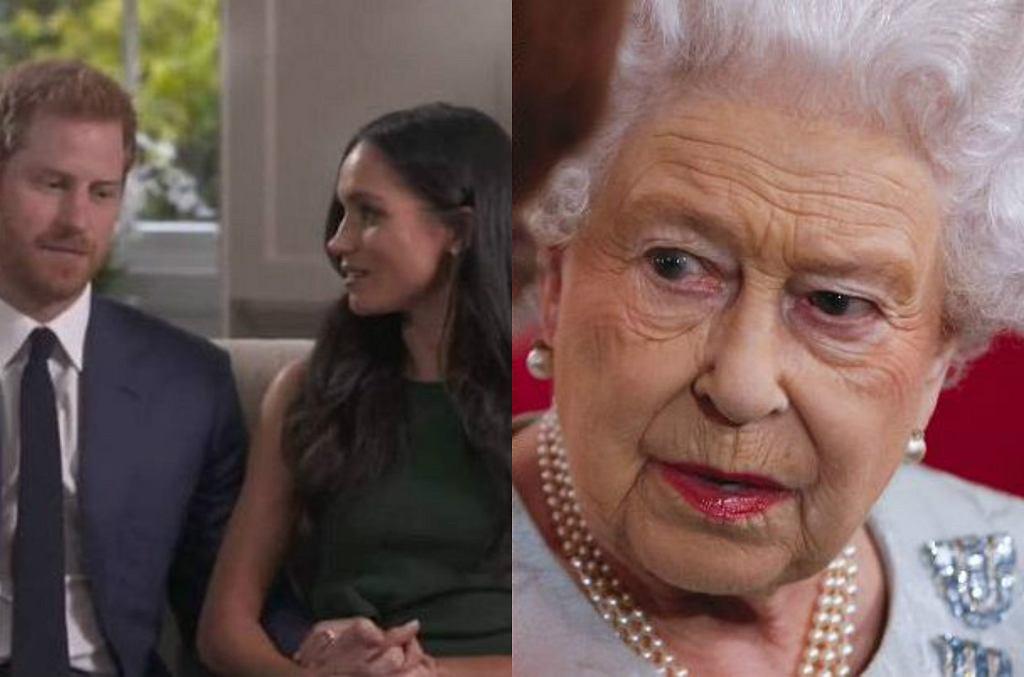 książę Harry, Meghan Markle, królowa Elżbieta II