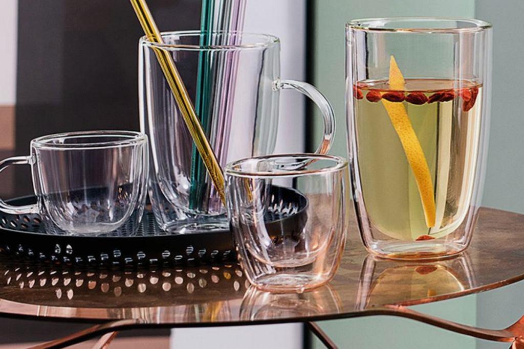 Zestaw szklanek termicznych.