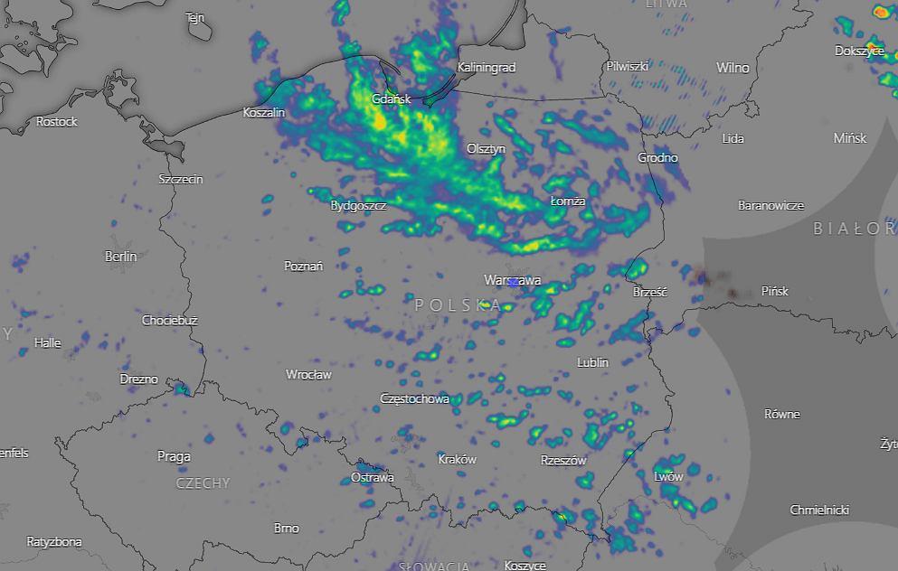 IMGW ostrzega przed burzami i lokalnymi podtopieniami
