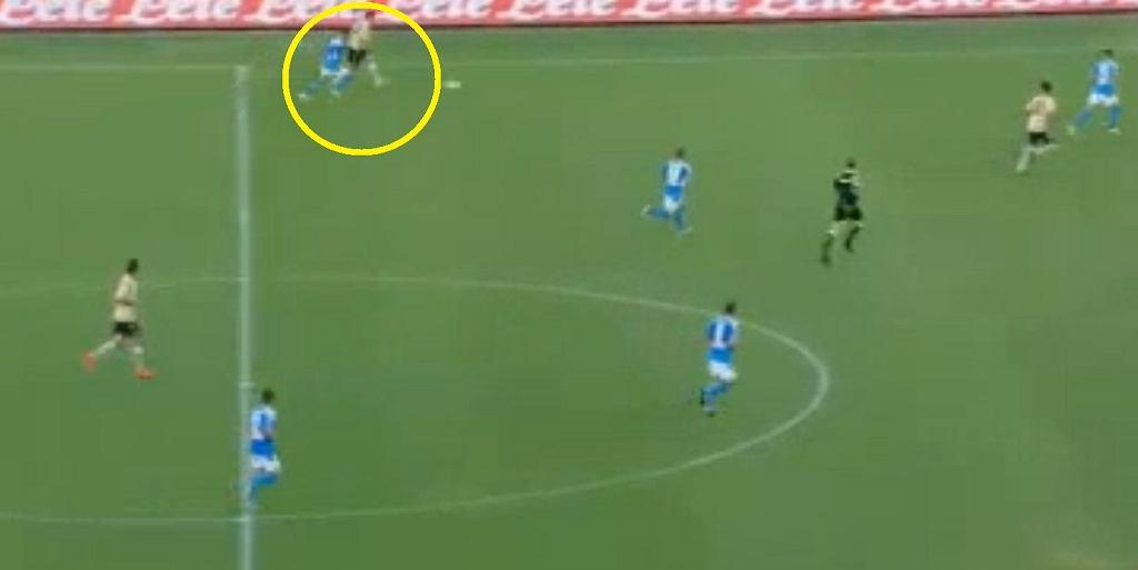 Arkadiusz Reca zaliczył asystę w meczu z Napoli