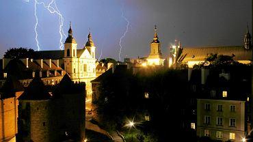 Burza na Starym Mieście w Warszawie w sierpniu 2013 r.