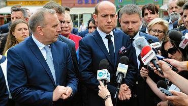 Politycy PO we Wrocławiu. Domagają się dymisji wiceministra Zielińskiego za śmierć Igora na komisariacie.