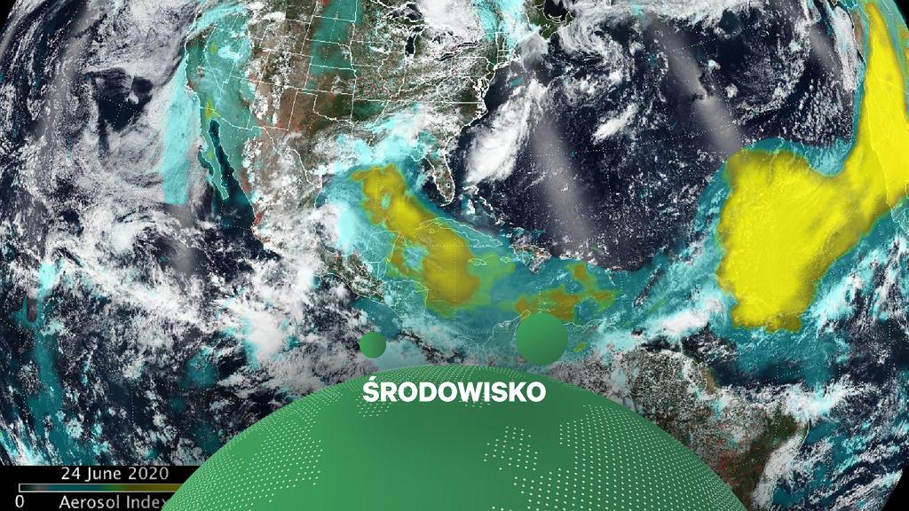 NASA publikuje nowe zdjęcia. Pokazują przejście gigantycznej chmury piasku nad Atlantykiem