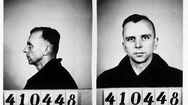Guenther Niethammer internowany w obozie w Recklinghausen (1946)