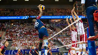 Ergo Arena. Turniej kwalifikacyjny siatkarzy do igrzysk olimpijskich w Tokio. Polska - Tunezja 3:0