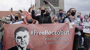 Warszawa. Pikieta solidarności z polakami aresztowanymi na Białorusi
