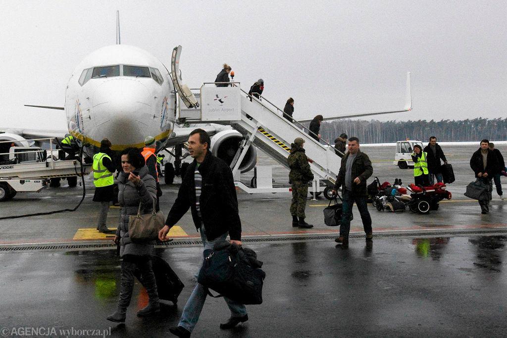 Pierwszy samolot linii Ryanair w Świdniku