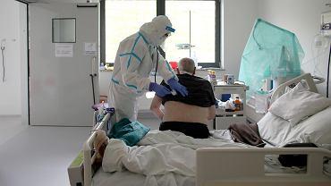 Pandemia koronawirusa. Oddział zakaźny w Szpitalu Uniwersyteckim w Krakowie.