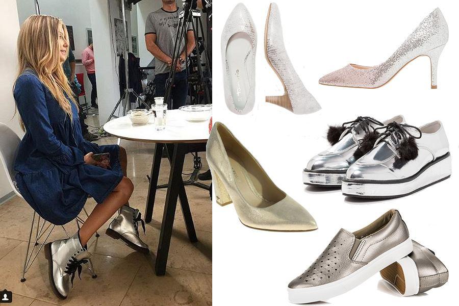Kolaż, połyskujące buty/Materiały partnera