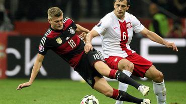 Tomasz Jodłowiec w meczu Polska - Niemcy