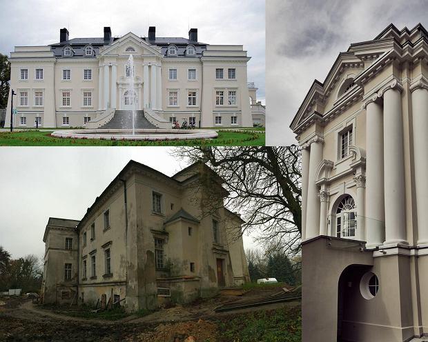 Pałac w Komierowie kiedyś i dziś