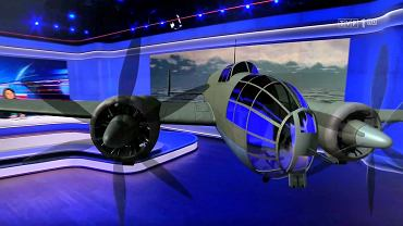 Bombowiec Łoś w studio TVP