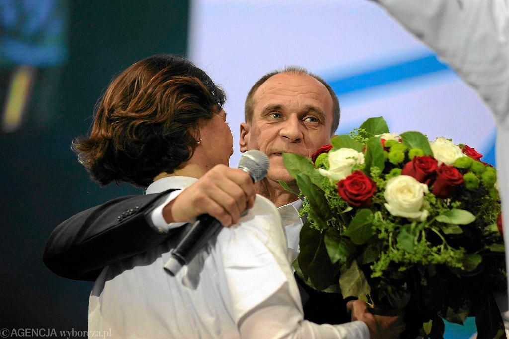 Paweł Kukiz w sztabie wyborczym w Lubinie
