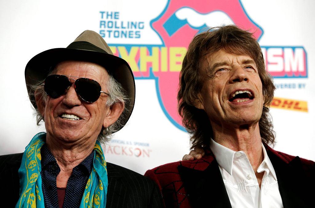 Keith Richards i Mick Jagger na otwarciu wystawy 'Exhibitionism: The Rolling Stones' w Nowym Jorku, 15.11.2016 / Mike Segar / Reuters