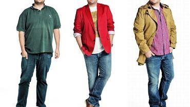 Od lewej na zdjęciu Krzysztof przed zmianą, oraz dwie nasze stylistyczne propozycje dla niego