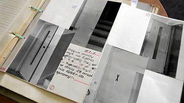 Dokumentacja fotograficzna zamieszczona w aktach sprawy zabójstwa cinkciarza z 1985 roku