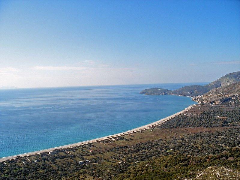 Albania, wybrzeże przy Borsh