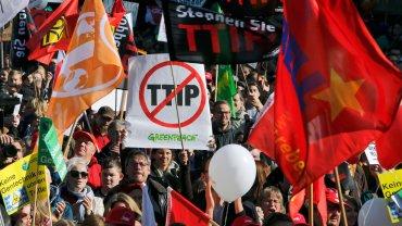 Protesty przeciwko TTIP w Berlinie
