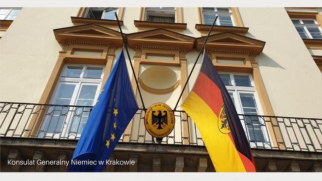 """Ambasada Niemiec z opuszczoną flagą w rocznicę powstania. """"Na znak głębokiego bólu i wstydu"""""""
