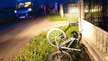 Zdjęcie z miejsca wypadku 11-letniego Kacpra