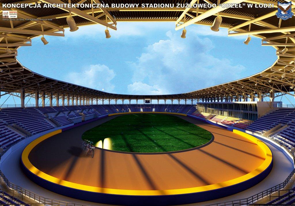 Wizualizacja nowego stadionu żużlowego przy ul. 6 sierpnia