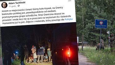 Uchodźcy koczują na granicy z Białorusią