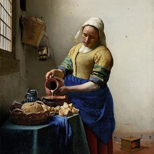 Jan Vermeer: Dziewczyna zdzbanem mleka; 1658-61 r.