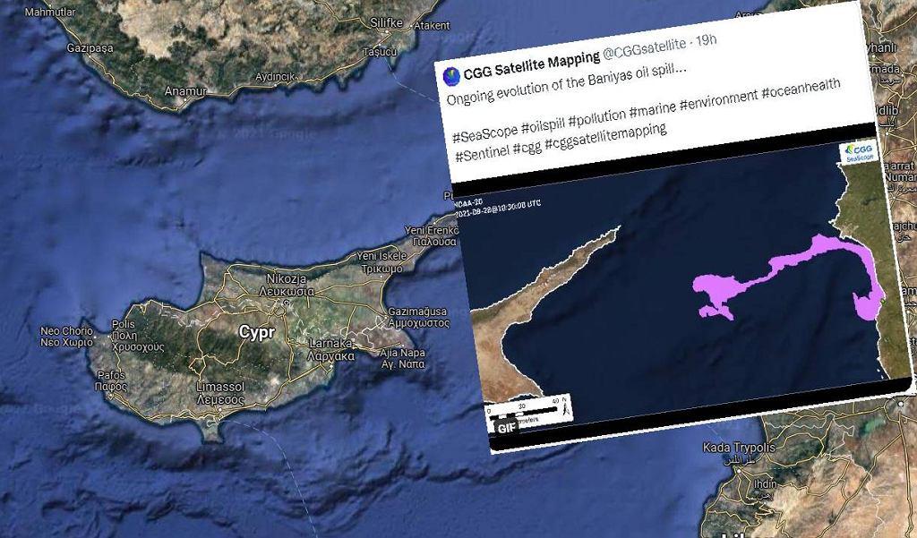 Plama oleju zbliża się do wybrzeża Cypru