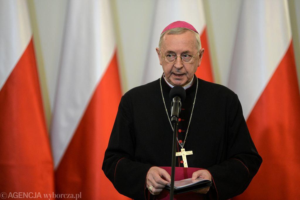 Przewodniczący Konferencji Episkopatu Polski Arcybiskup Stanisław Gądecki. Warszawa, 18 stycznia 2020