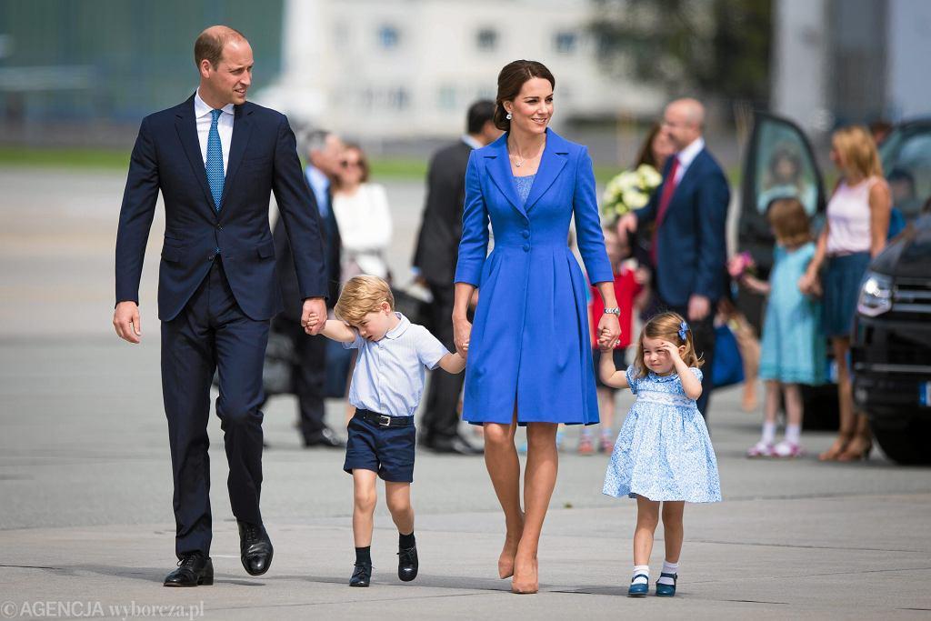 Książe William i Księżna Kate Middleton z dziećmi w Warszawie